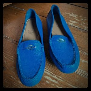 Coach soft leather loafers